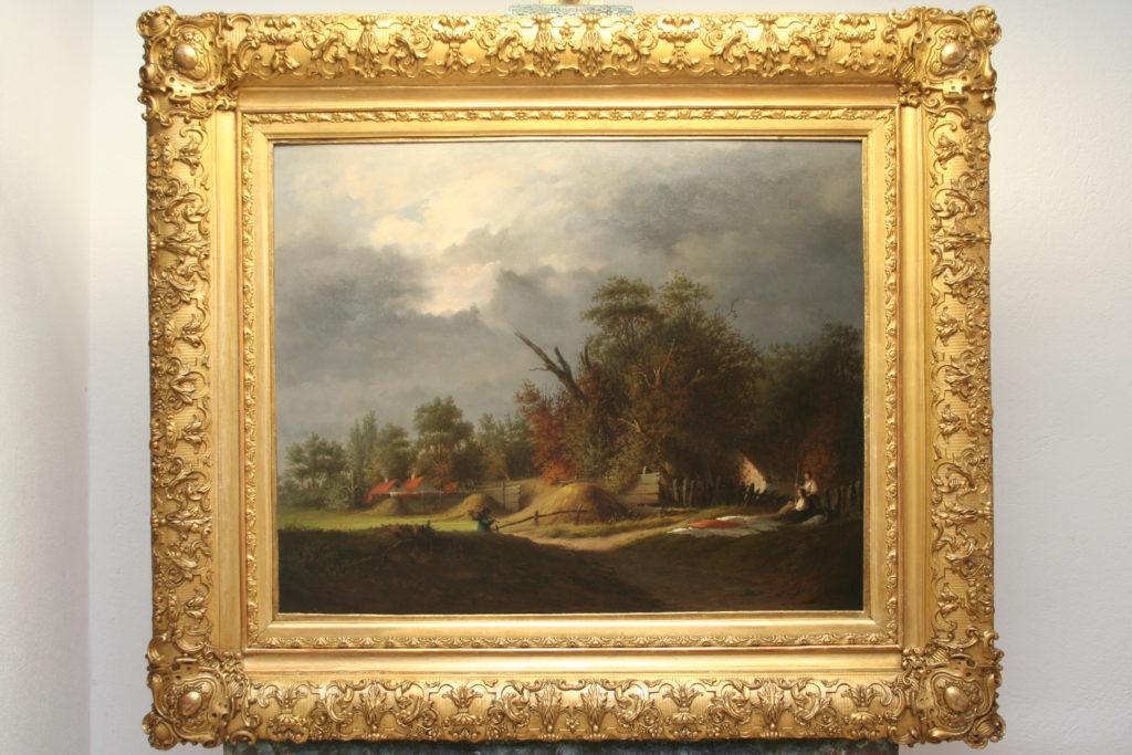 Restaurierung von Gemälden, Landschaft, 17. Jahrhundert