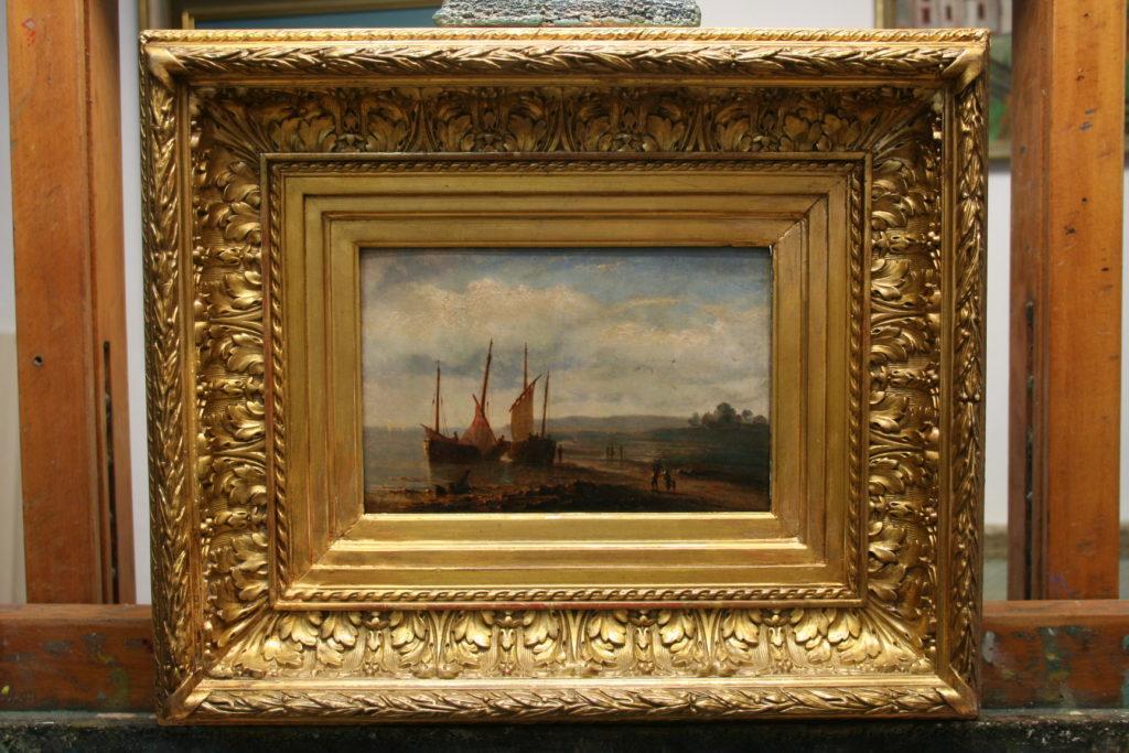 Restaurierung von Gemälden, Marinebild, 19. Jahrhundert