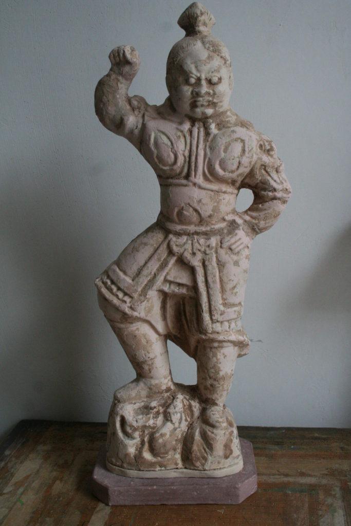 N.1) Restaurierung von Skulpturen, Tonfigur, Östliche Zhou Dynastie, China, 770 - 256 v. Chr.