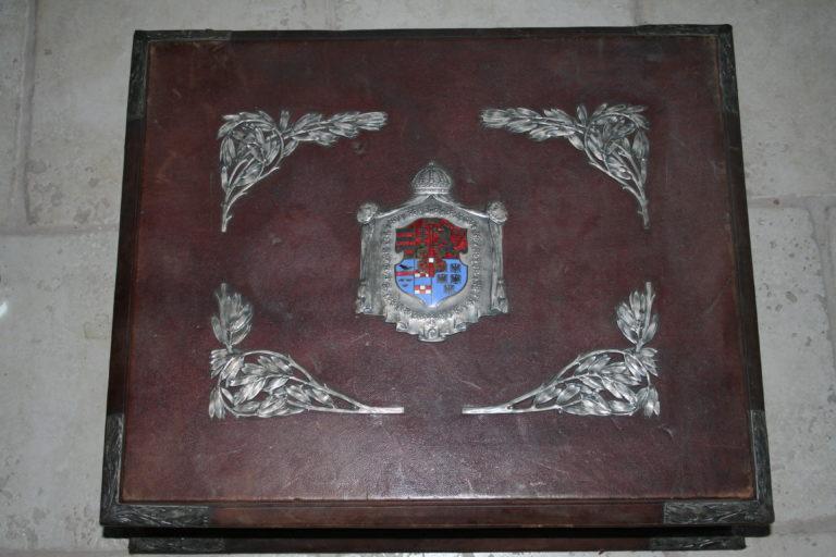 Nach Restaurierung, Lederkoffer von Gisela Louise, Tochter von Kaiser Franz Josef