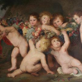 Malerei des 19. Jahrhunderts, Kopie nach Rubens, von Helene Birnbacher, 1859-1923